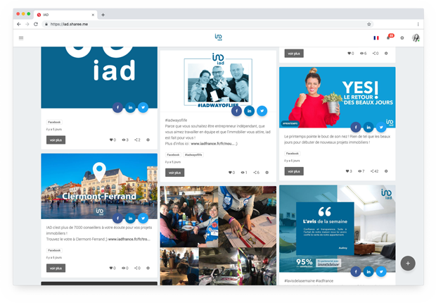 Une plateforme d'Employee Avocacy pour un réseau de franchisés