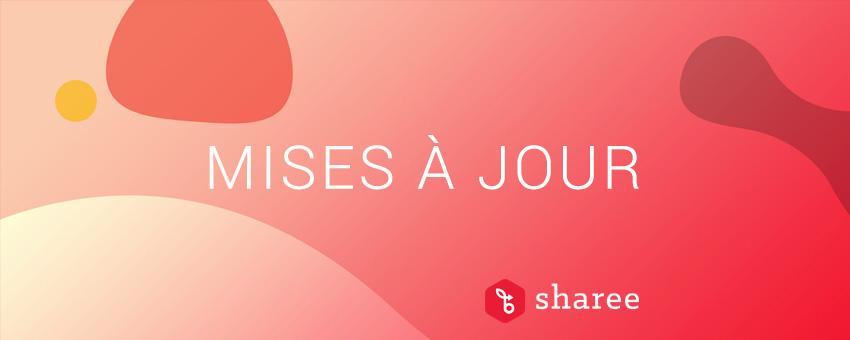 Mise à jour de la plateforme Web et mobile d'employee advocacy Sharee
