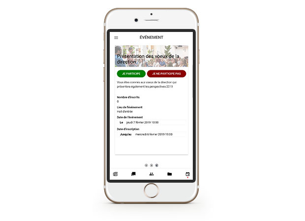 Module de gestion des événements internes intégrés à la plateforme d'Employee Advocacy